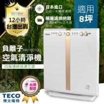 【超薄省空間 東元-空氣清淨機】台灣製造 TECO 負離子 空氣淨化機 抗過敏 光觸媒【DE396】