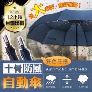 【加大傘面↗防風硬骨架↗黑膠耐韌】抗UV+不透光 一鍵自動開收傘 嘟嘟屋【DE171】